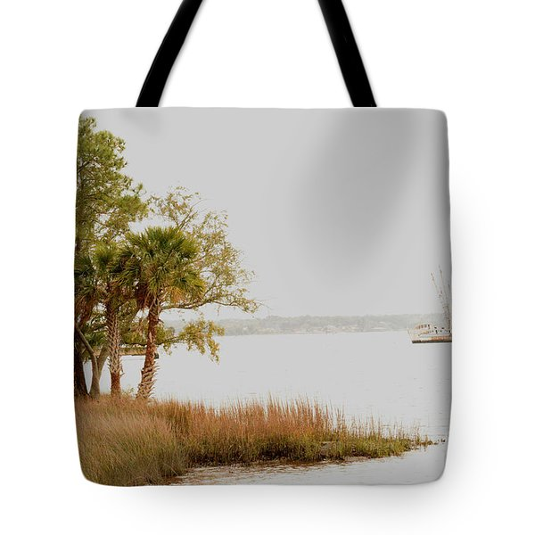 Aground At The Marsh Tote Bag