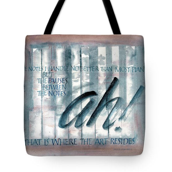 ah Music Tote Bag by Judy Dodds