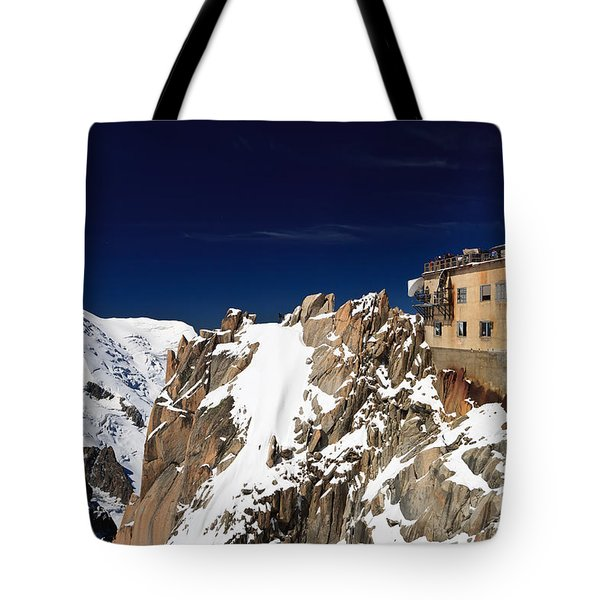 Tote Bag featuring the photograph Aiguille Du Midi -  Mont Blanc Massif by Antonio Scarpi
