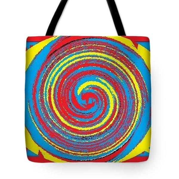 Tote Bag featuring the digital art Aimee Boo Swirled by Catherine Lott