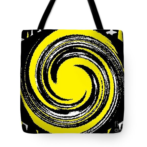 Tote Bag featuring the digital art Aimee Starry Night by Catherine Lott