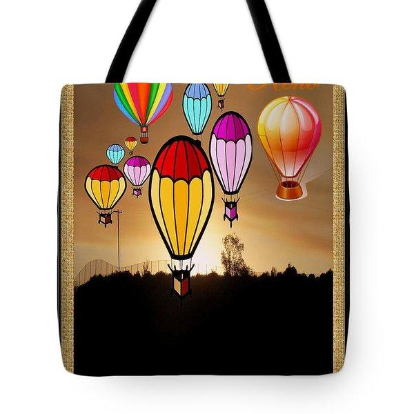 Air Balloons Reno Tote Bag by Bobbee Rickard