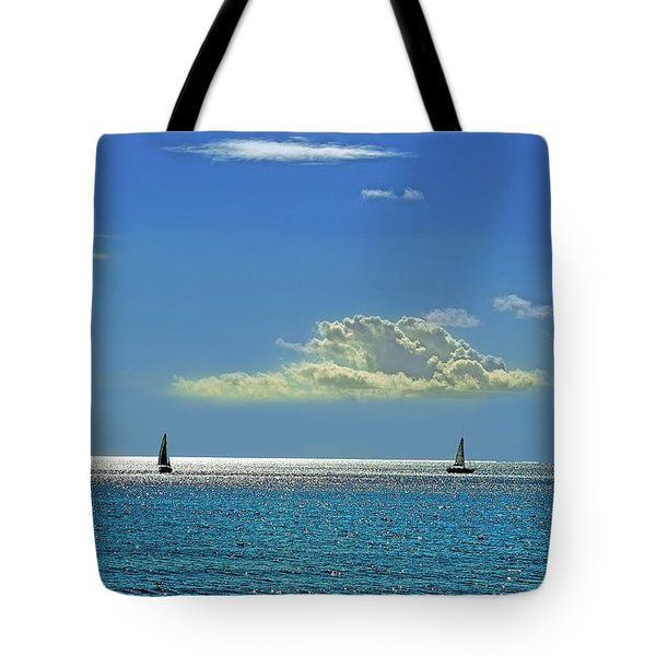 Tote Bag featuring the photograph Air Beautiful Beauty Blue Calm Cloud Cloudy Day by Paul Fearn