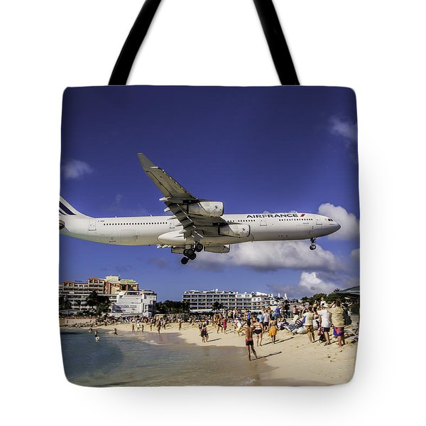 Air France St. Maarten Landing Tote Bag