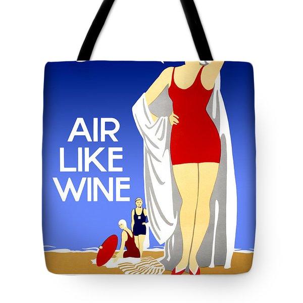 Air Like Wine Tote Bag
