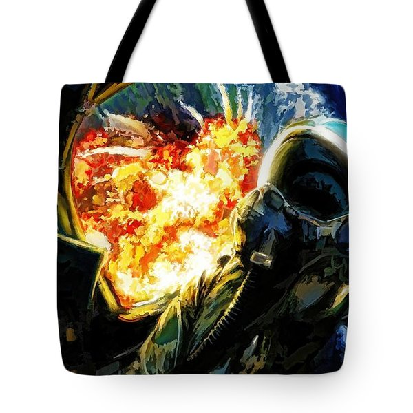 Air To Ground Tote Bag by Dave Luebbert