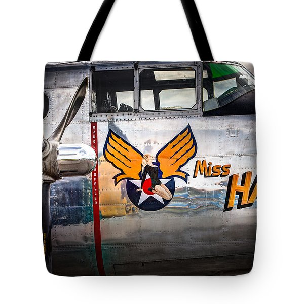 Aircraft Nose Art - Pinup Girl - Miss Hap Tote Bag by Gary Heller