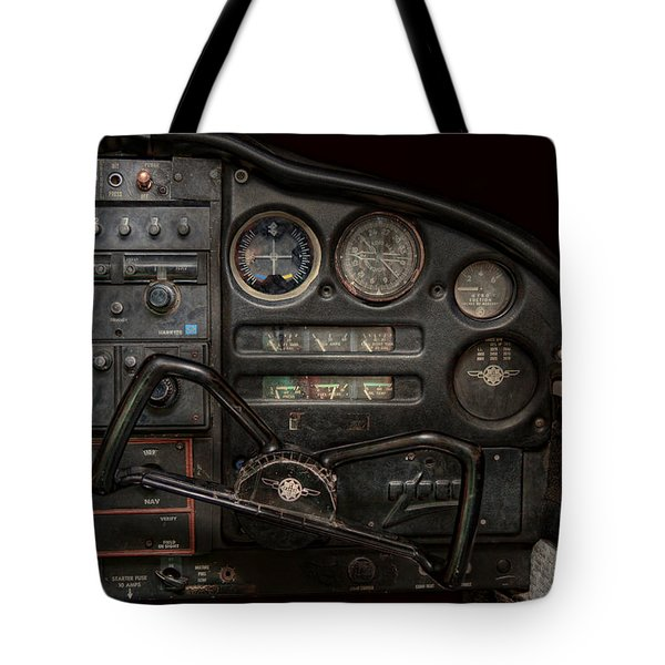Airplane - Piper Pa-28 Cherokee Warrior - A Warriors View Tote Bag by Mike Savad
