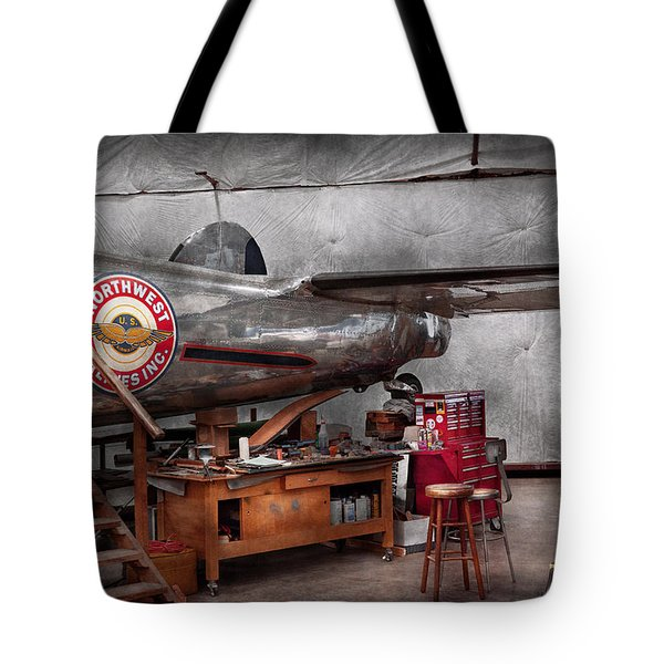 Airplane - The Repair Hanger  Tote Bag