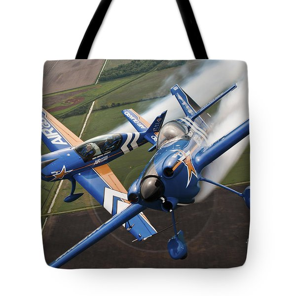 Airplanes Perform At The Sound Of Speed Tote Bag by Stocktrek Images