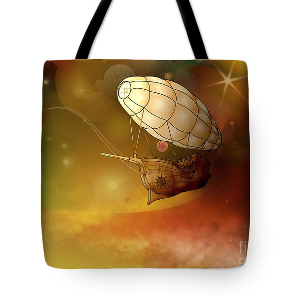 Airship Ethereal Journey Tote Bag