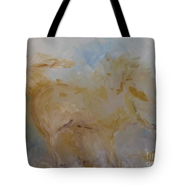 Tote Bag featuring the painting Airwalking by Laurie L