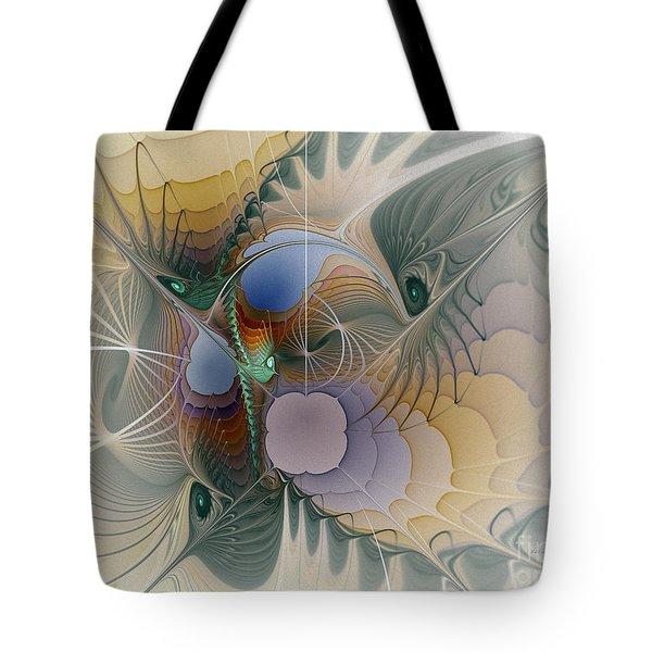 Airy Space-fractal Art Tote Bag
