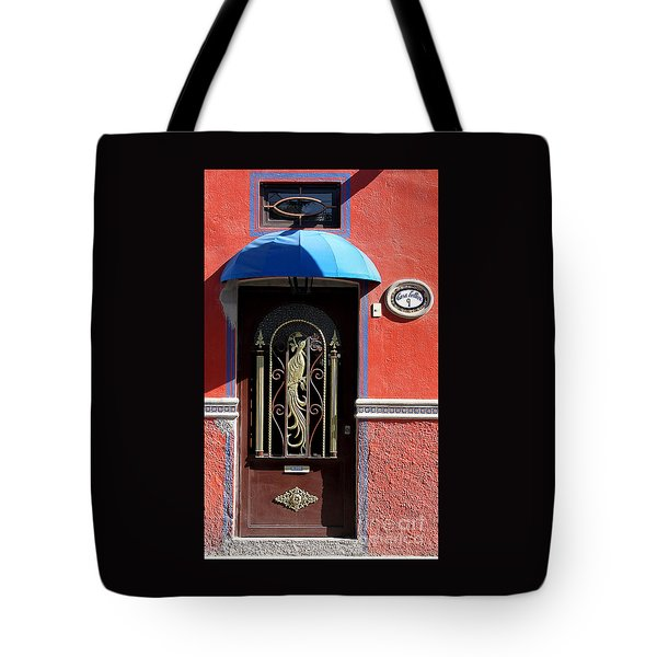 Ajijic Door #8 Tote Bag