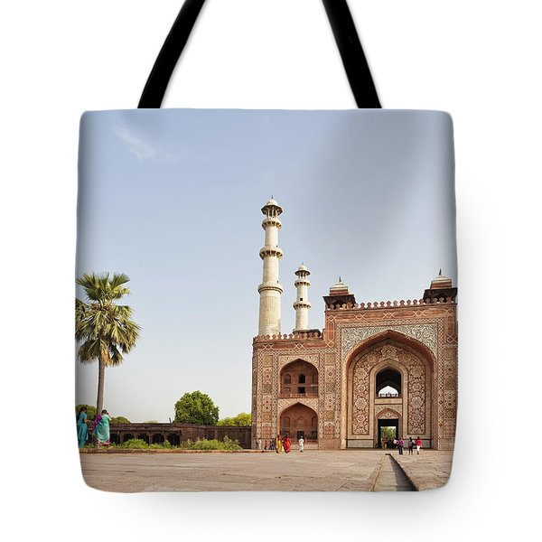 Akbar's Tomb In  India Tote Bag