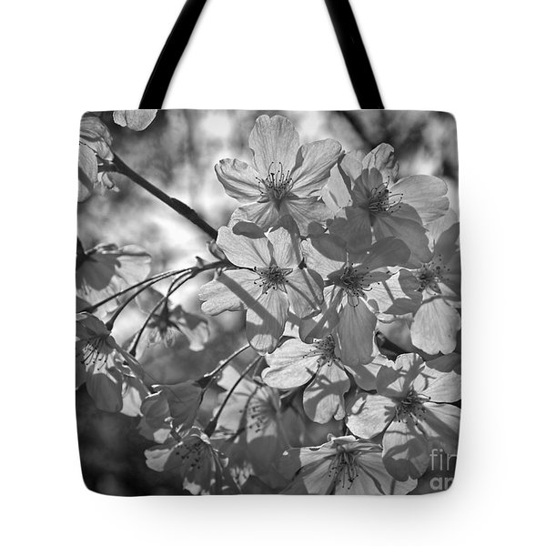 Akebono In Monochrome Tote Bag by Peggy Hughes