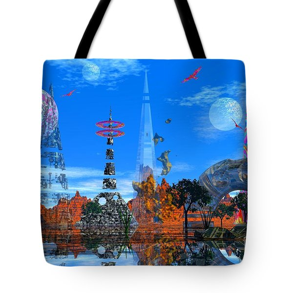 Tote Bag featuring the photograph Akrubaar by Mark Blauhoefer