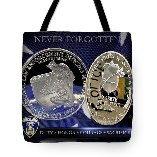 Akron Police Memorial Tote Bag by Gary Yost