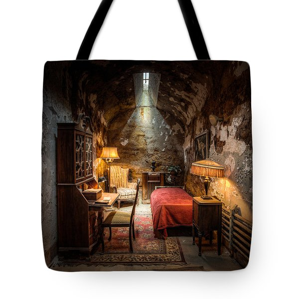 Al Capone's Cell - Historical Ruins At Eastern State Penitentiary - Gary Heller Tote Bag by Gary Heller