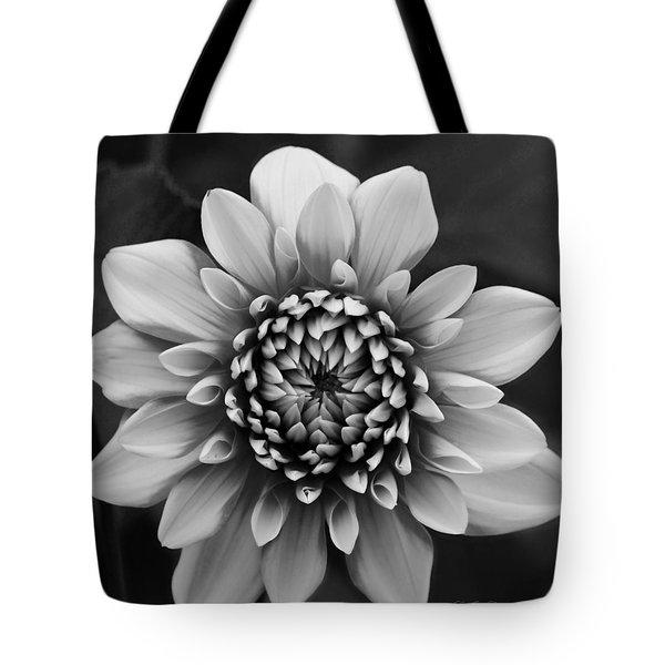 Ala Mode Dahlia In Black And White Tote Bag