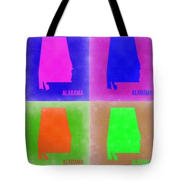 Alabama Pop Art Map 2 Tote Bag