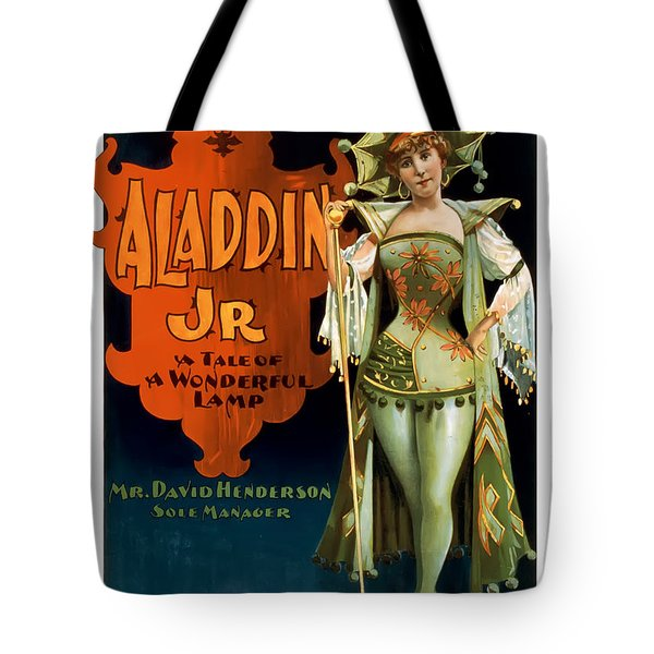 Aladdin Jr Jestor Tote Bag by Terry Reynoldson