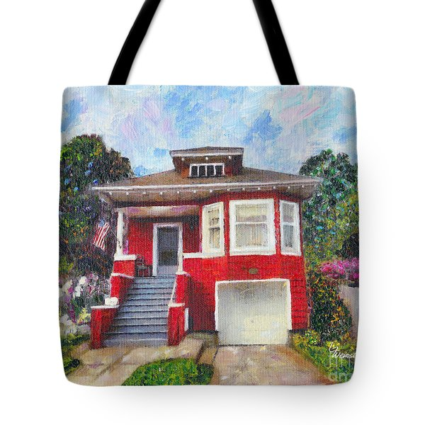 Colonial Revival High Basement Cottage 1907  Tote Bag