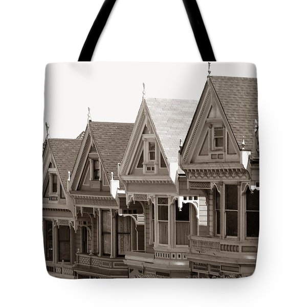 Alamo Square - Victorian Painted Ladies 2009 Tote Bag by Connie Fox