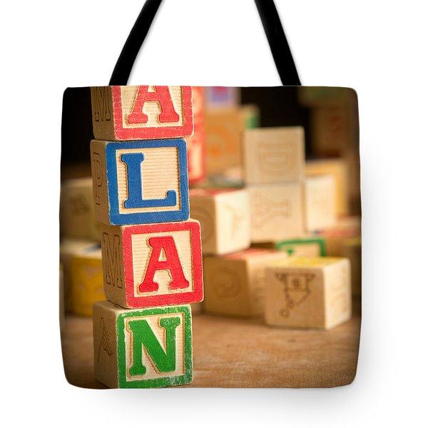 Alan - Alphabet Blocks Tote Bag