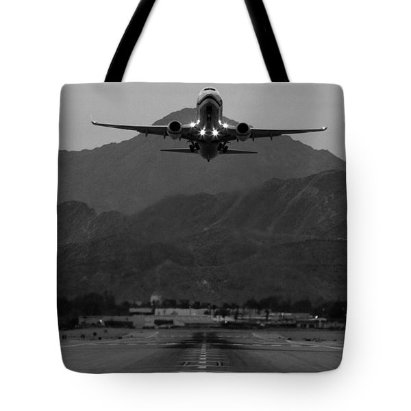 Alaska Airlines Palm Springs Takeoff Tote Bag by John Daly