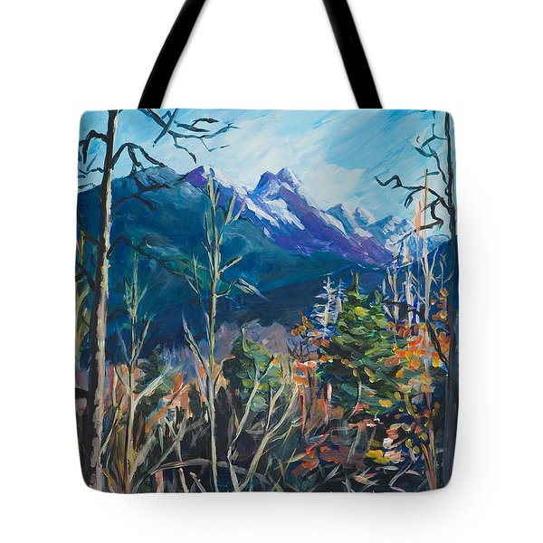 Alaska Autumn Tote Bag by Yulia Kazansky