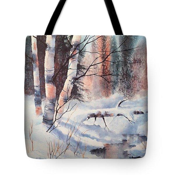 Alaska Birch II Tote Bag by Teresa Ascone