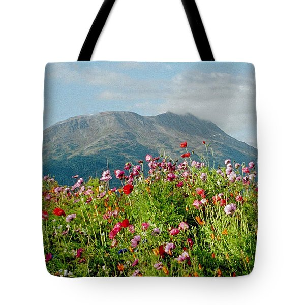 Alaska Flowers In September Tote Bag