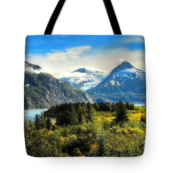 Tote Bag featuring the photograph Alaska In All Her Glory by Dyle   Warren
