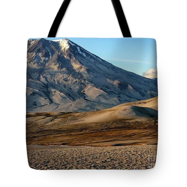 Tote Bag featuring the photograph Alaska Landscape Scenic Mountains Snow Sky Clouds by Paul Fearn