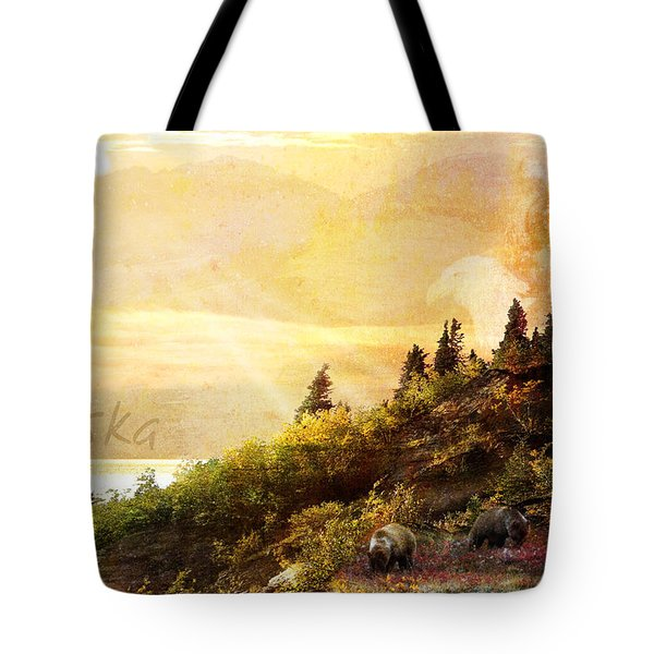 Alaska Montage Tote Bag by Ann Lauwers