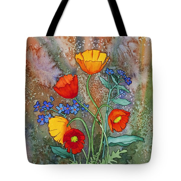 Alaska Poppies And Forgetmenots Tote Bag