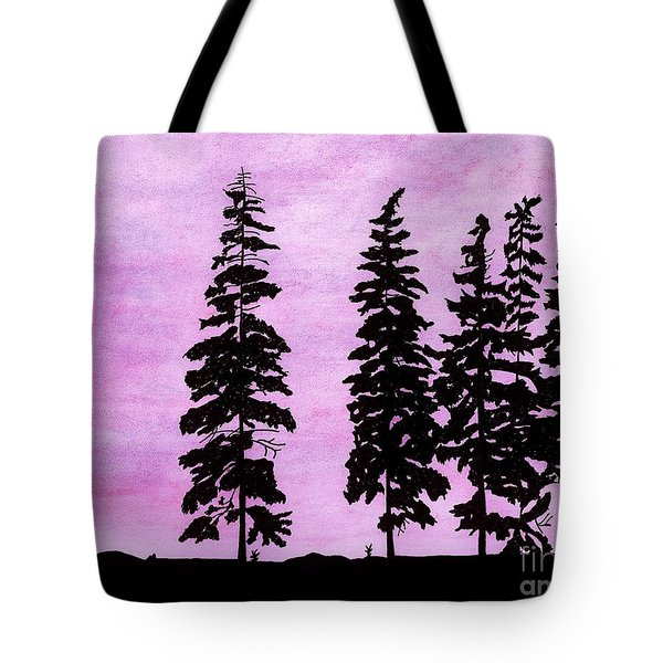 Tote Bag featuring the drawing Colorful - Alaska - Sunset by D Hackett