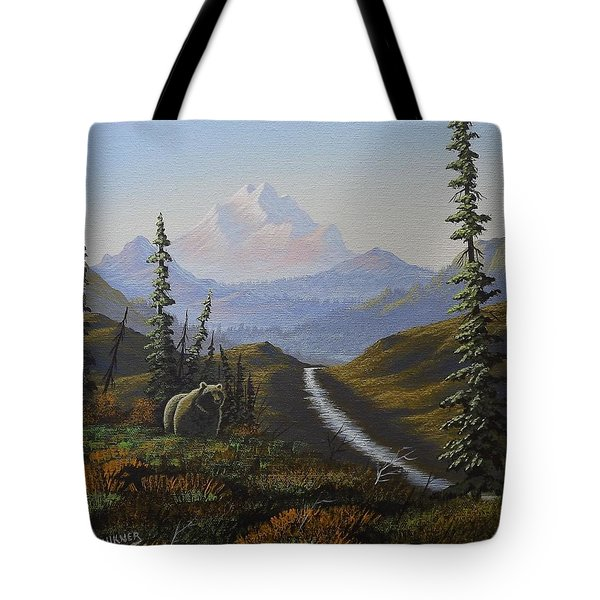 Alaskan Brown Bear Tote Bag