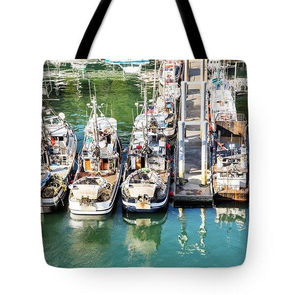 Alaskan Fishing Village Tote Bag