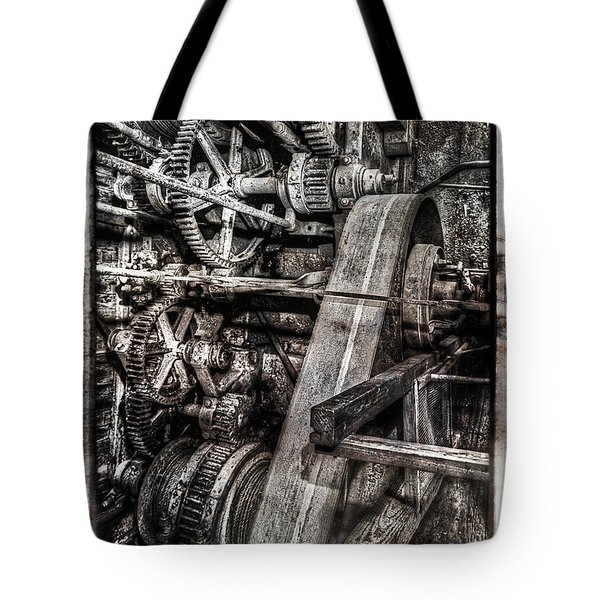 Alaskan Gold-dredge Bucket Gear Train Tote Bag by Daniel Hagerman