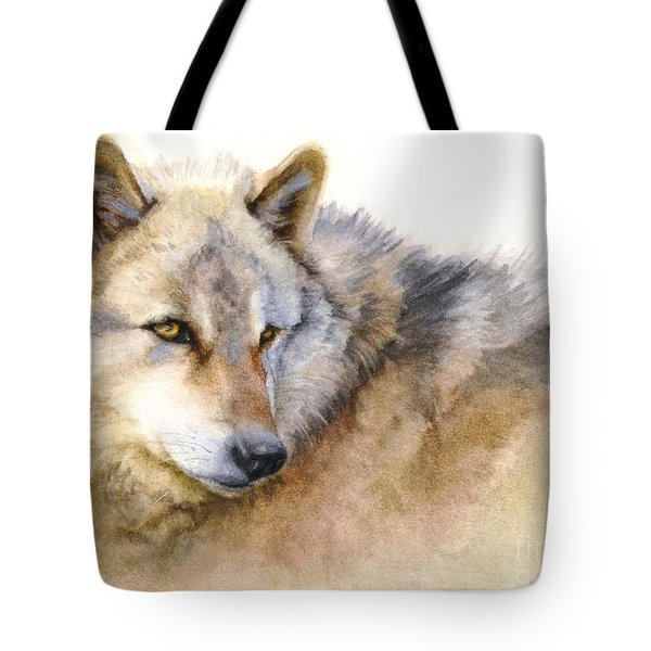 Alaskan Gray Wolf Tote Bag