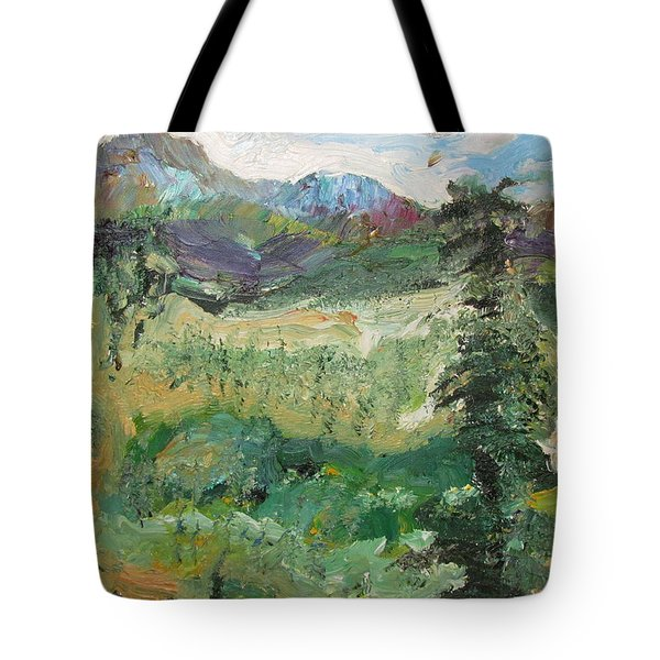 Alaskan Landscape Tote Bag by Shea Holliman