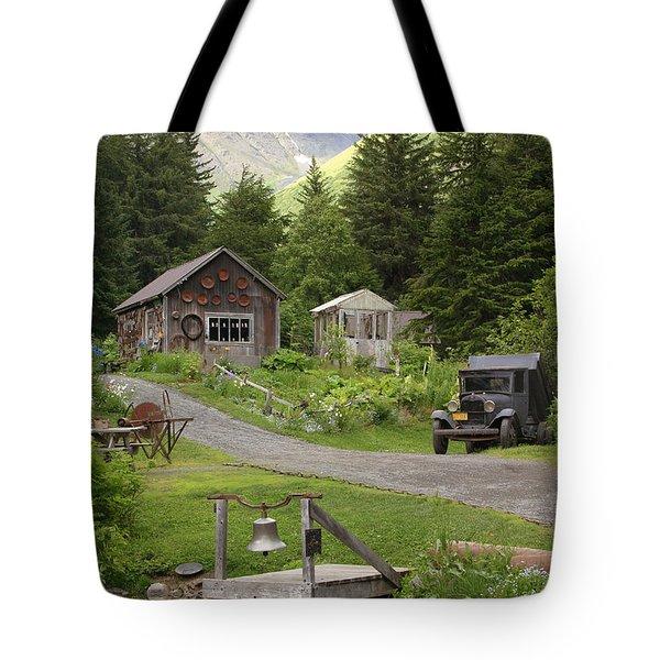 Alaskan Pioneer Mining Camp Tote Bag