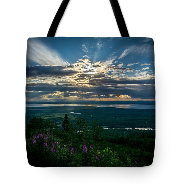 Alaskan Summer Sunset Tote Bag
