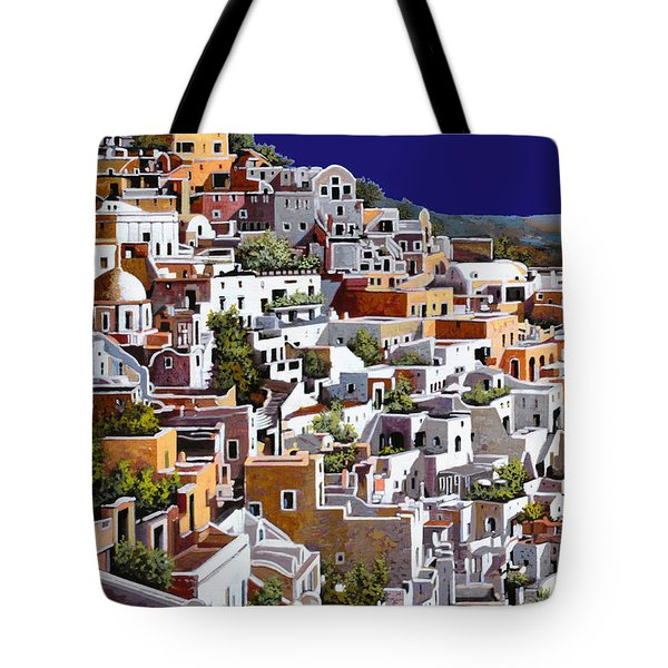 alba a Santorini Tote Bag by Guido Borelli