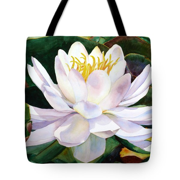 Tote Bag featuring the painting Alba Flora by Karen Mattson