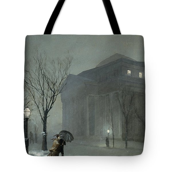 Albany In The Snow Tote Bag by Walter Launt Palmer