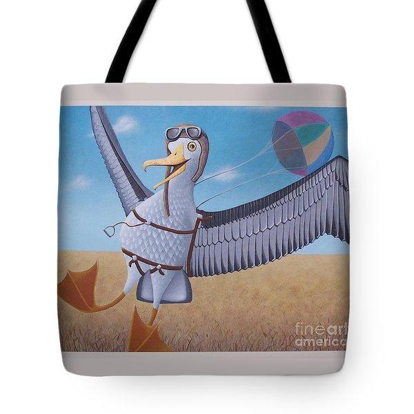 Albatross Landing Tote Bag