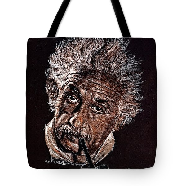 Albert Einstein Portrait Tote Bag